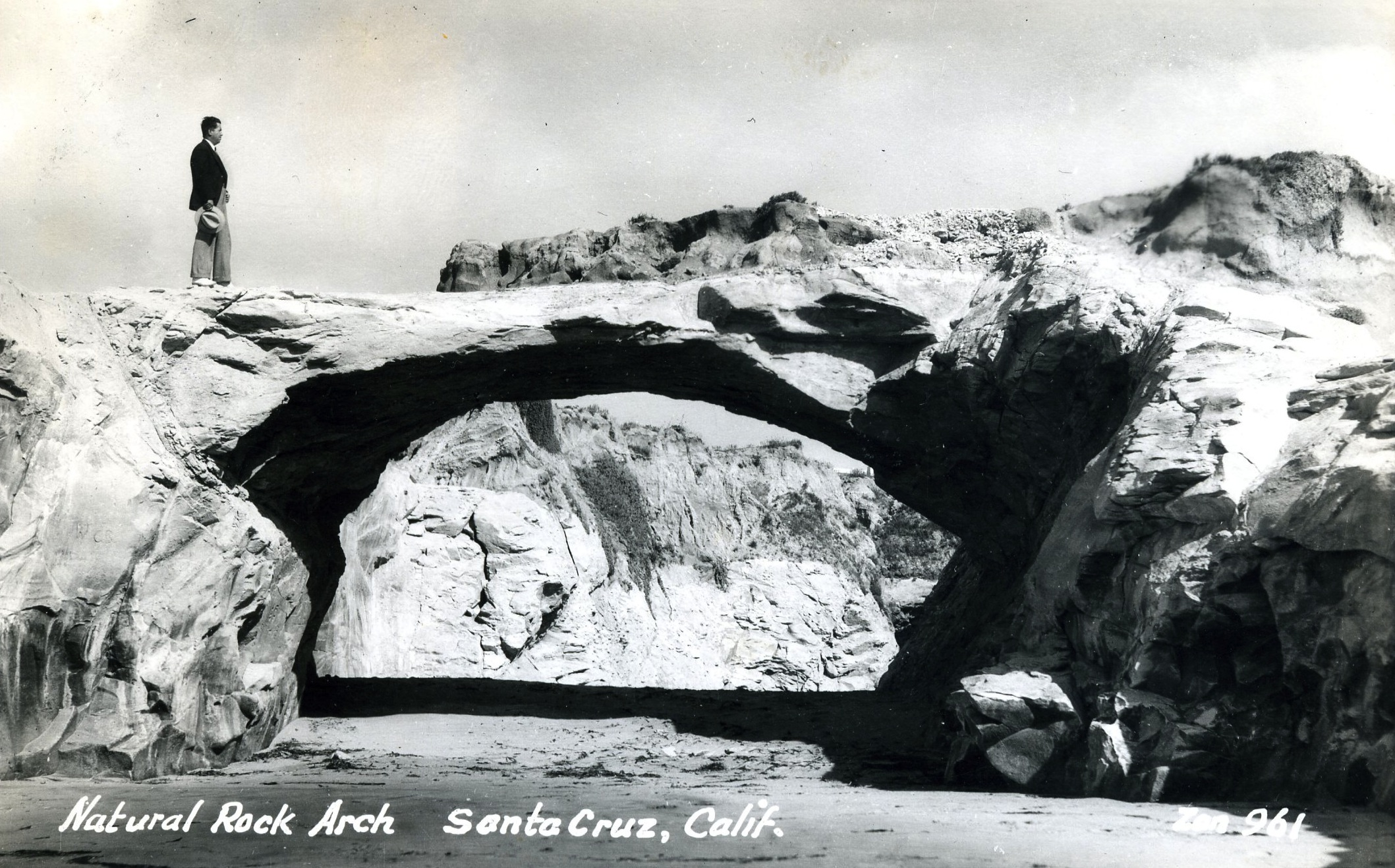 Natural Rock Arch many years in the past