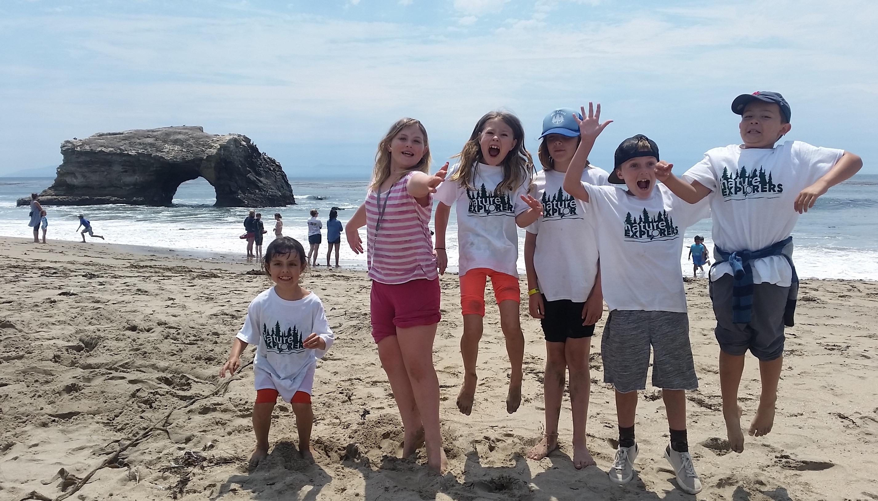 Kids at Natural Bridges
