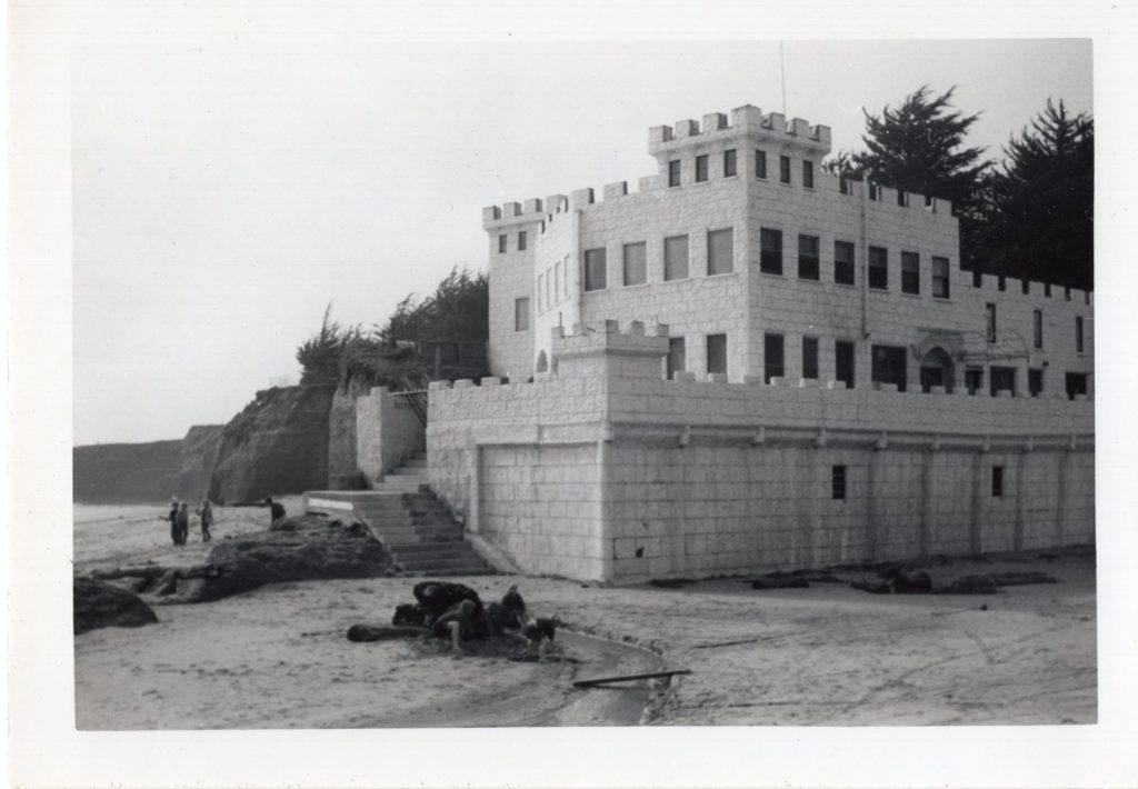 The Scholl Mar Castle on Seabright Beach, 1930s.