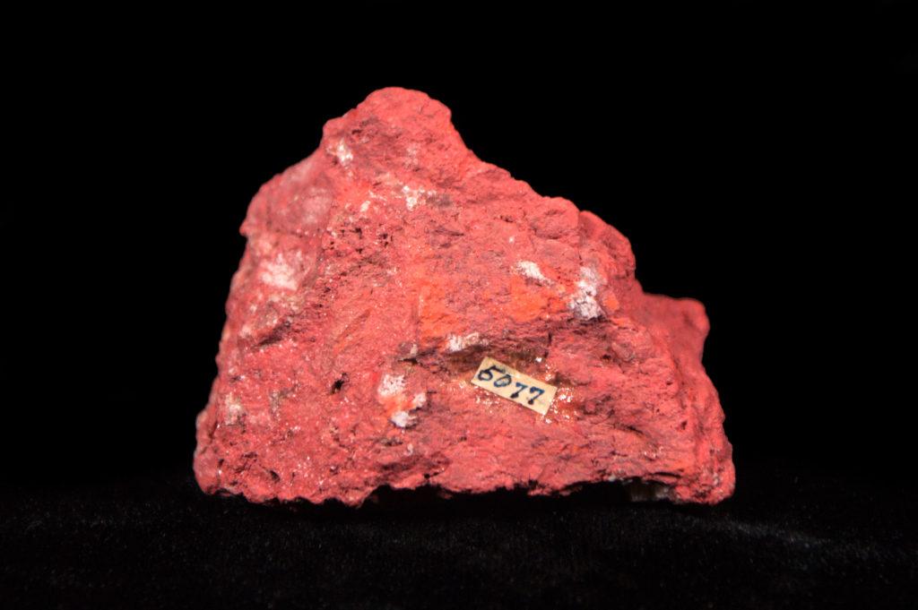 Red mineral specimen
