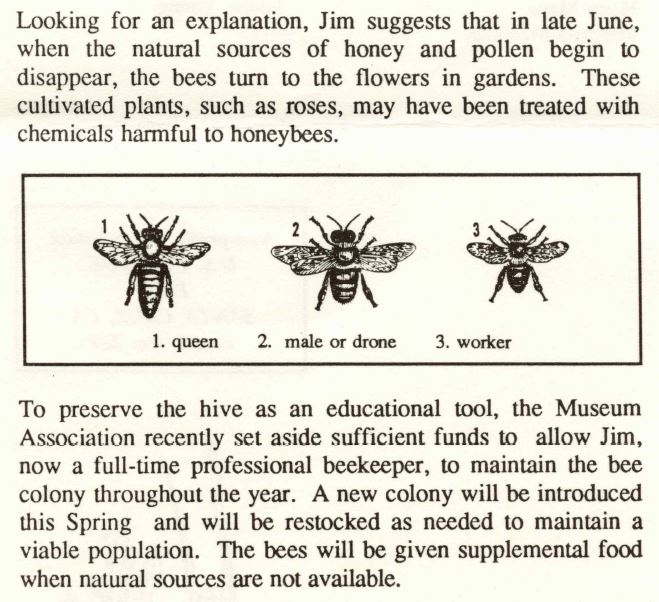 A clipping describing the ecology of honeybees