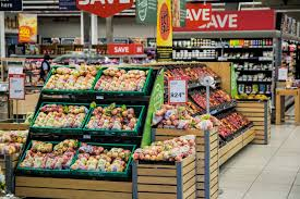 The produce section of a large grocer