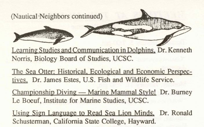 A program listing for the Nautical Neighbors series