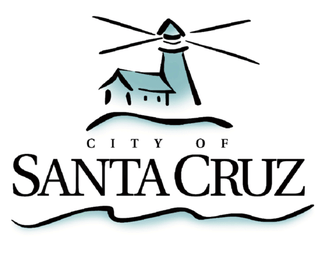 City of Santa Cruz logo featuring lighthouse