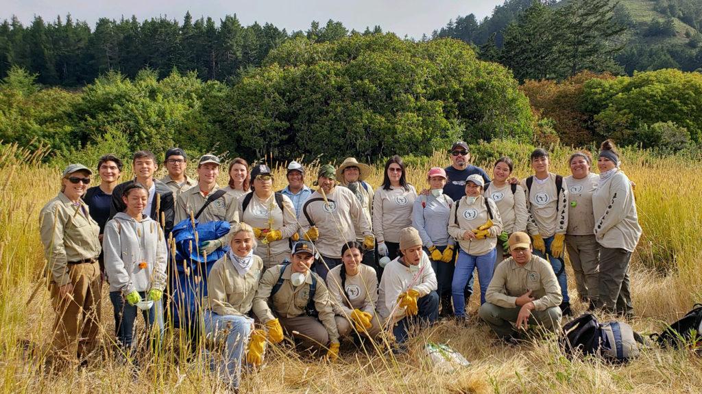 Amah Mutsun Land Trust crew in Quiroste Valley.