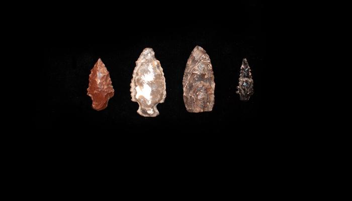 Stone points from Santa Cruz