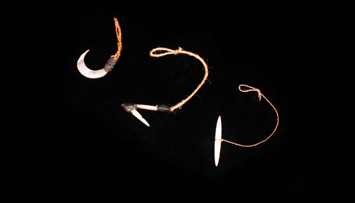 Shell fishing hooks