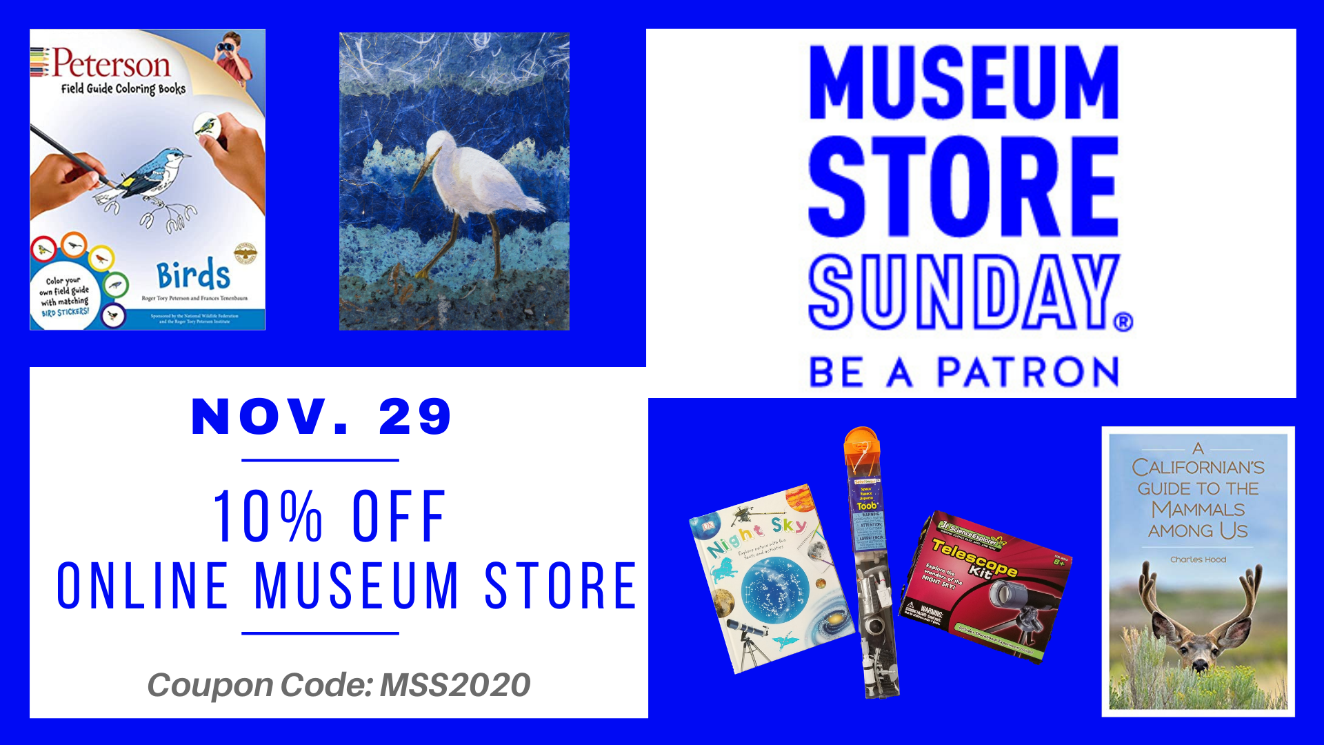 Banner advertising Museum Store Sunday